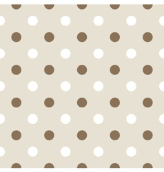 Seamless retro pattern with dots vector image