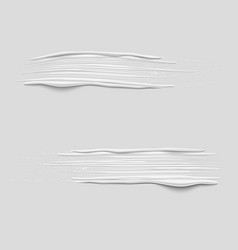 set of 3d white paint brush strokes vector image