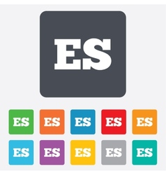 Spanish language sign icon ES translation vector