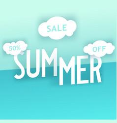 Summer sale creative composition vector