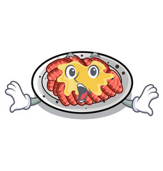 Surprised carpaccio isolated with in mascot vector