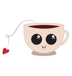 tea cup or color vector image