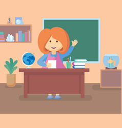 teacher in class room vector image