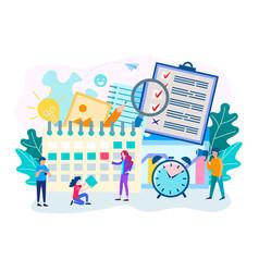 time management planning deadline vector image