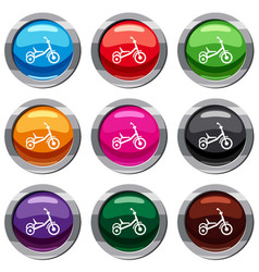 tricycle set 9 collection vector image