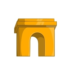 Triumphal arch Paris icon cartoon style vector