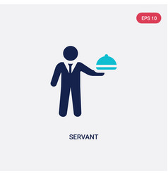 Two color servant icon from hotel and restaurant vector