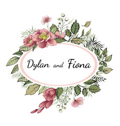 wedding invitation floral invite thank you vector image