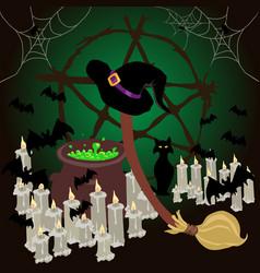 Wicca ritual vector