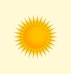 yellow and orange sun vector image