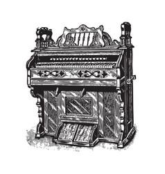 ancient piano vector image