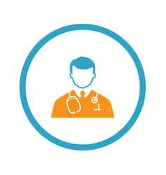 doctor icon flat design vector image