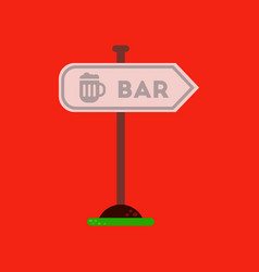 flat icon on background sign of bar vector image vector image