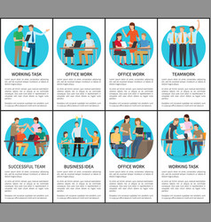working task and office work vector image vector image