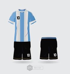 argentina team uniform vector image vector image