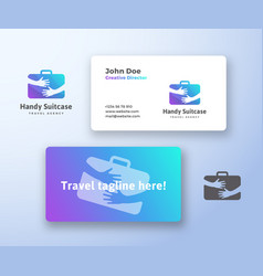 handy suitcase travel agency abstract sign vector image