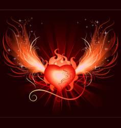 heart phoenix vector image vector image