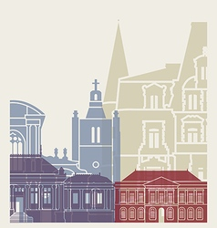 Le Havre skyline poster vector image