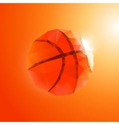 Polygon basketball vector image