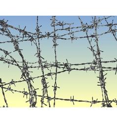 steel barbs vector image vector image