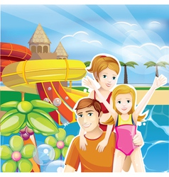 summer family vector image vector image