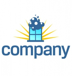 window cleaning service logo vector image vector image