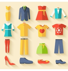 collection style fashion clothing for people icon vector image