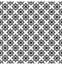 floral geometric monochrome elegant seamless vector image vector image