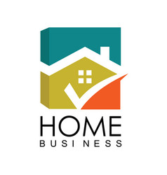 home business logo vector image