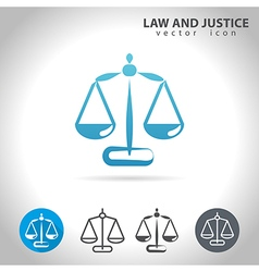 justice blue icon vector image vector image