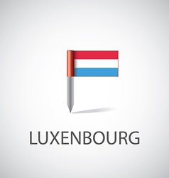 Luxembourg flag pin vector image vector image