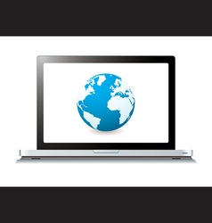 modern laptop with world wide web vector image vector image