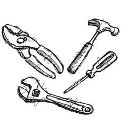scribble series - tools vector image