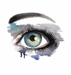 Eye on grunge background vector image vector image