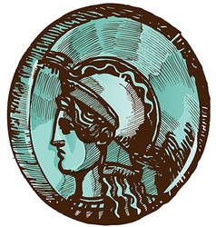 greek old coin vector image