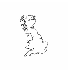 Map of Great Britain icon outline style vector image vector image