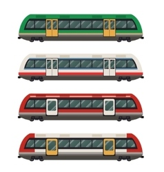 Set of railbuses vector image