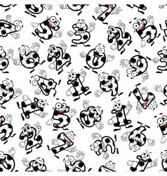 Soccer or football numbers pattern vector image