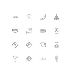 travel simple linear icons set outlined icons vector image vector image