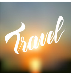 typography poster travel vector image