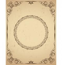 vintage frame on grunge background vector image