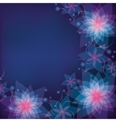 Abstract blue purple floral background with vector image