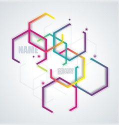 abstract design for brochures cover or banners vector image