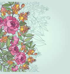 Abstract flower background with text place vector