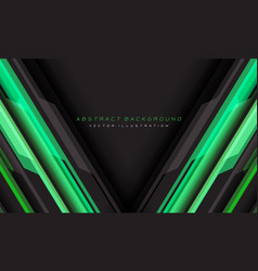 Abstract green grey cyber geometric line vector