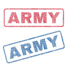 Army textile stamps vector