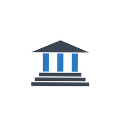 bank building related glyph icon vector image