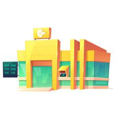 bank office modern building cartoon vector image