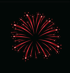 Beautiful red firework bright firework isolated vector