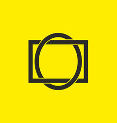 black yellow oval and rectangle shape vector image